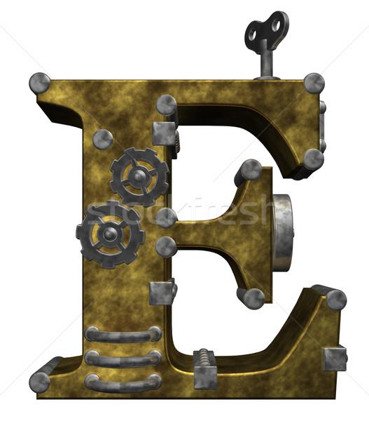 Steampunk branco ilustração 3d relógio tecnologia Foto stock © drizzd