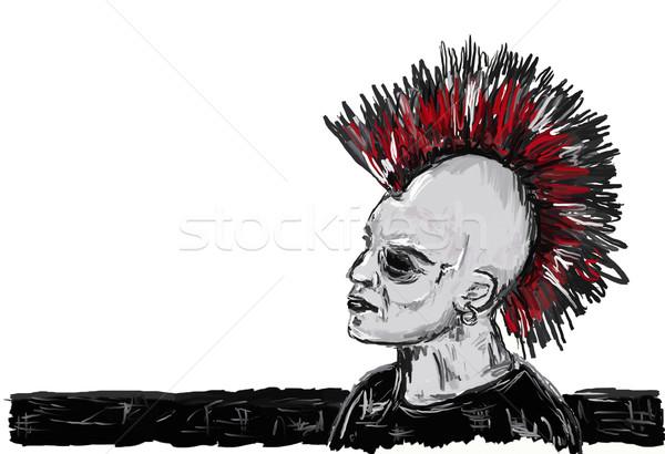 панк рокер лице человека портрет Готский Сток-фото © drizzd