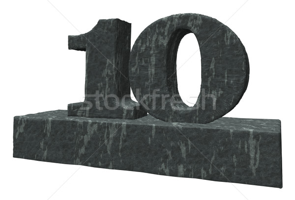 Stock photo: number ten