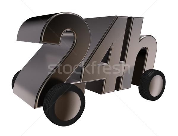 Teslim tekerlekler 3d illustration iş zaman hizmet Stok fotoğraf © drizzd
