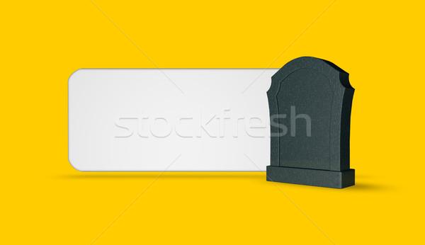 obituary Stock photo © drizzd