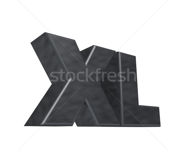 the letters XL on white background - 3d illustration Stock photo © drizzd