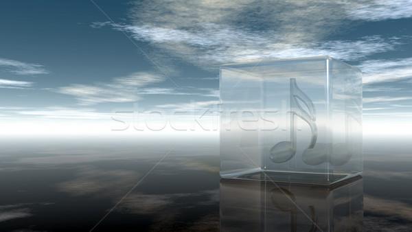 Muzyki Uwaga szkła kostki mętny niebo Zdjęcia stock © drizzd