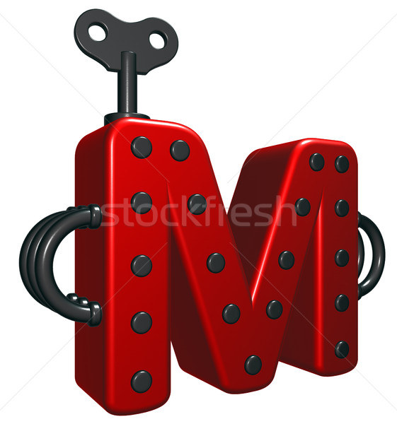 letter m with decorative pieces - 3d rendering Stock photo © drizzd