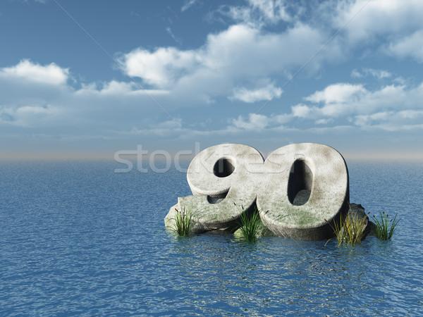 Número océano 3d naturaleza mar cumpleanos Foto stock © drizzd