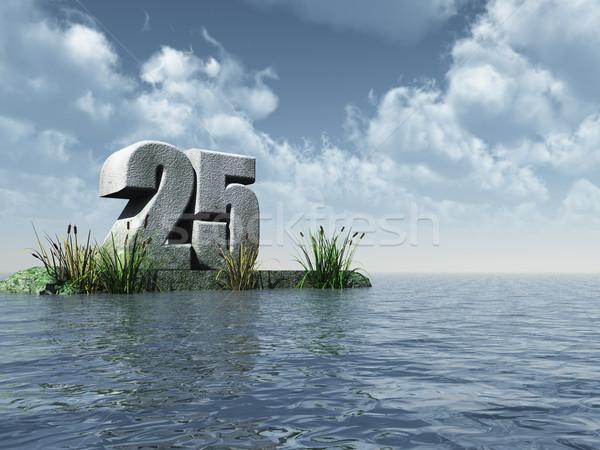 Vinte cinco número 25 oceano ilustração 3d Foto stock © drizzd