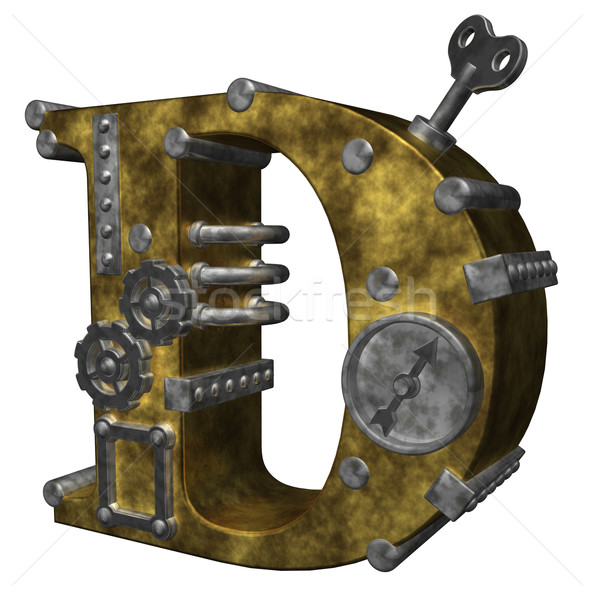steampunk letter d Stock photo © drizzd