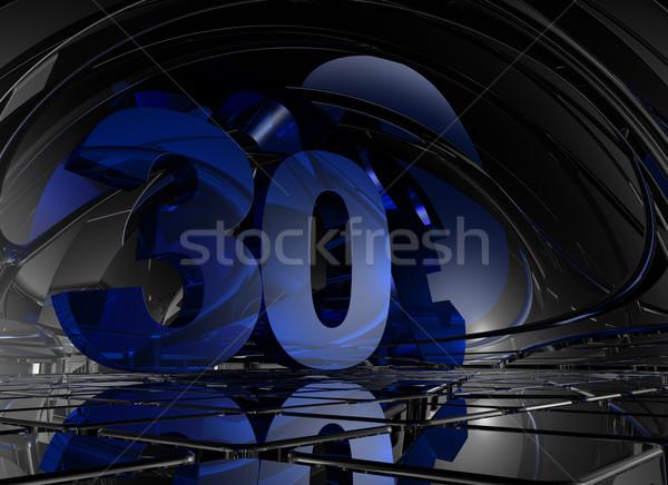 Numero trenta abstract futuristico spazio illustrazione 3d Foto d'archivio © drizzd