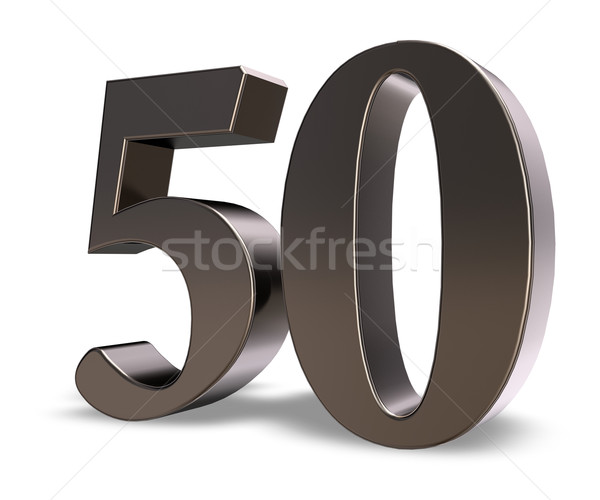 number fifty Stock photo © drizzd