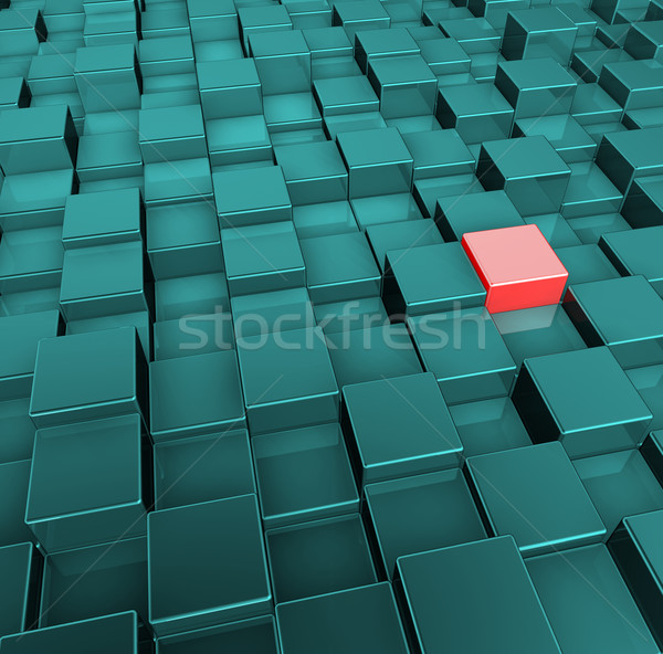 Stockfoto: Tolerantie · Rood · groene · 3d · illustration · abstract