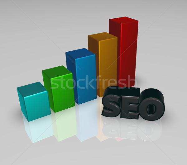 Gráfico de negócio seo membro ilustração 3d sucesso gráfico Foto stock © drizzd