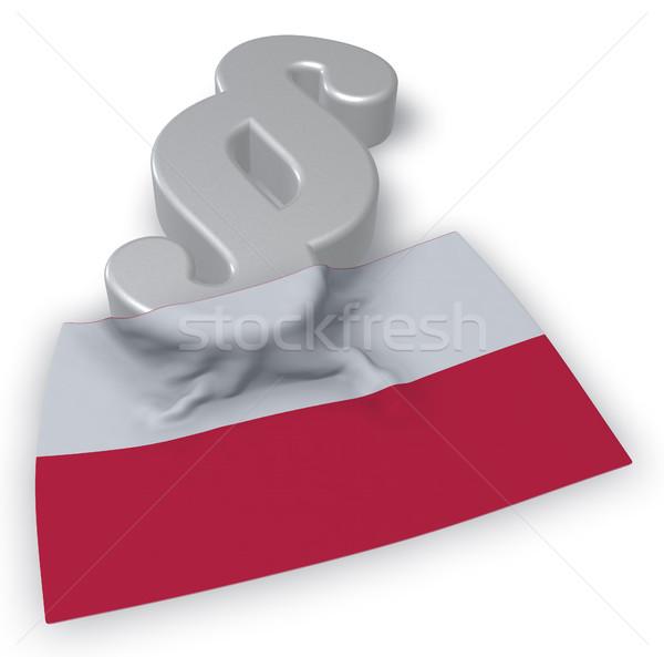 Paragraphe symbole pavillon Pologne 3D Photo stock © drizzd