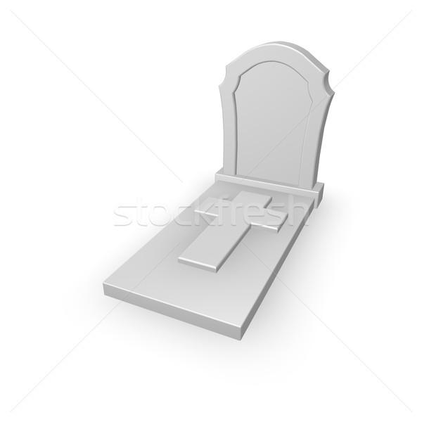 Stock photo: tomb stone