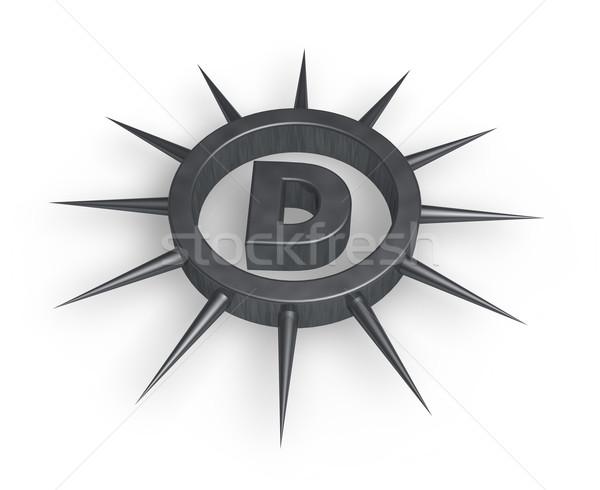 D betű gyűrű bent 3d illusztráció absztrakt felirat Stock fotó © drizzd