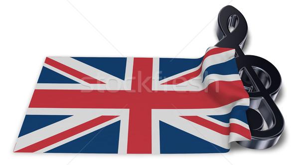 Symbol Flagge Reich 3D Rendering Kunst Stock foto © drizzd