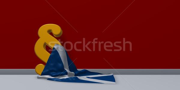 Bekezdés szimbólum zászló Skócia 3D renderelt kép Stock fotó © drizzd