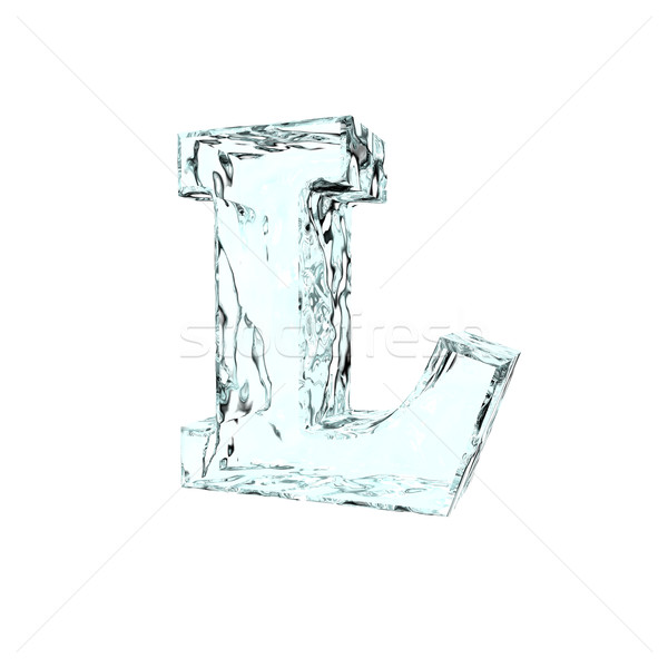 Bevroren letter l witte 3d illustration winter brief Stockfoto © drizzd