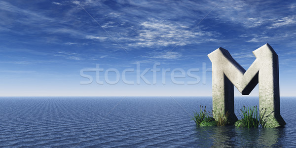 Rock viking oceaan 3d illustration wolken religieuze Stockfoto © drizzd
