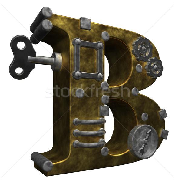 Steampunk levél fehér 3d illusztráció terv technológia Stock fotó © drizzd