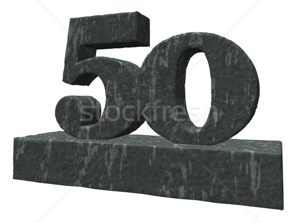Сток-фото: числа · пятьдесят · 3d · иллюстрации · рождения · рок · каменные