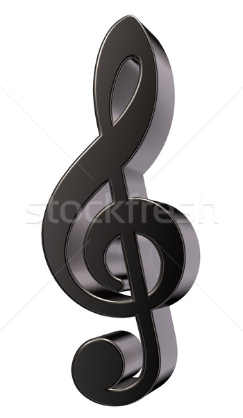 metal clef Stock photo © drizzd