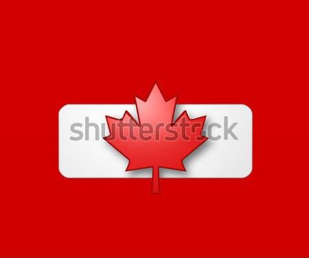 Kanada zászló 3d illusztráció szín minta vidék Stock fotó © drizzd