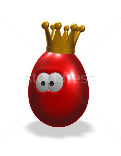 Koning ei cartoon easter egg kroon 3d illustration Stockfoto © drizzd