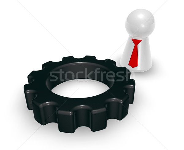 gear wheel and token Stock photo © drizzd