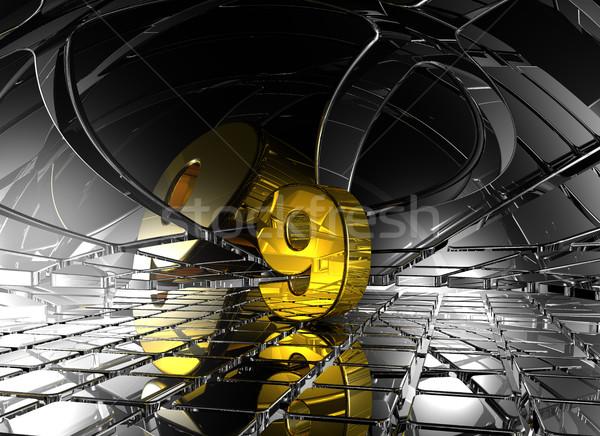 Numero nove abstract futuristico spazio 3D Foto d'archivio © drizzd