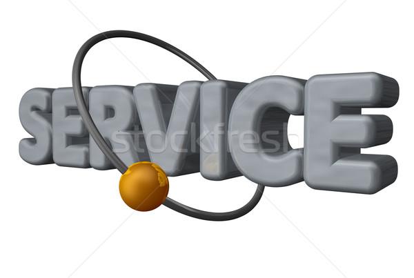 サービス ボール フライ 周りに 言葉 ストックフォト © drizzd
