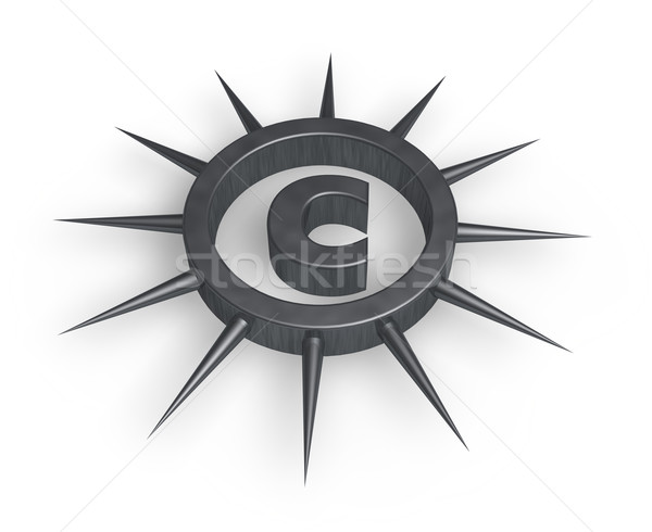 spiky letter c Stock photo © drizzd