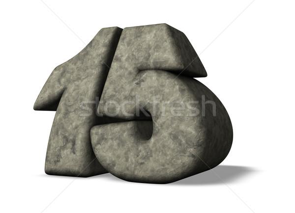 Kő szám tizenöt 3d illusztráció évforduló illusztráció Stock fotó © drizzd