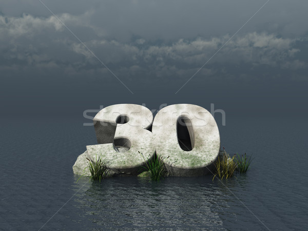 тридцать числа океана 3d иллюстрации природы пейзаж Сток-фото © drizzd