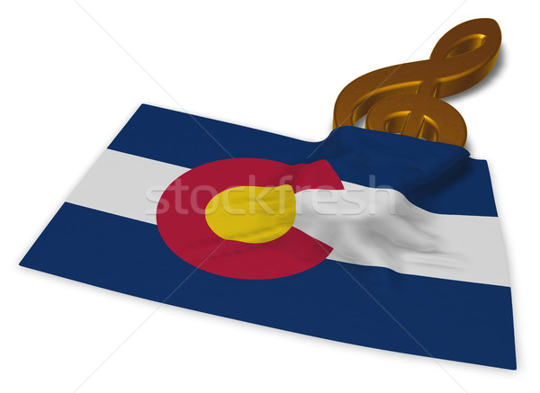 Foto stock: Colorado · música · símbolo · bandeira · 3D