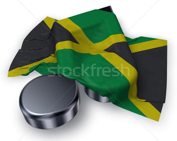 Musique note pavillon Jamaïque 3D Photo stock © drizzd