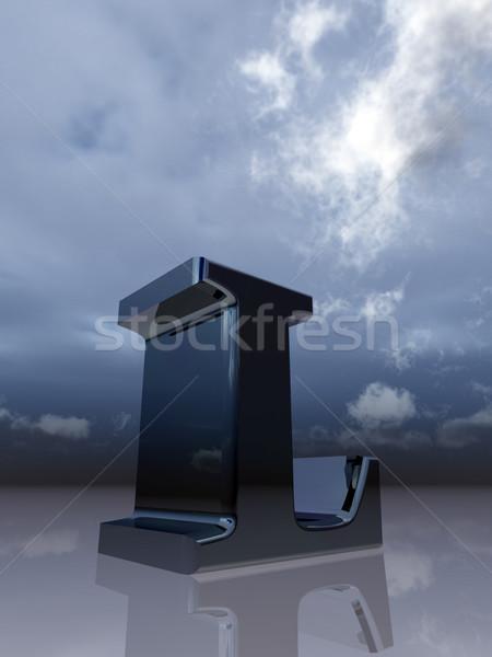 Stock photo: chrome l