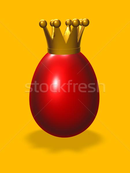царя яйцо пасхальное яйцо корона 3d иллюстрации куриные Сток-фото © drizzd