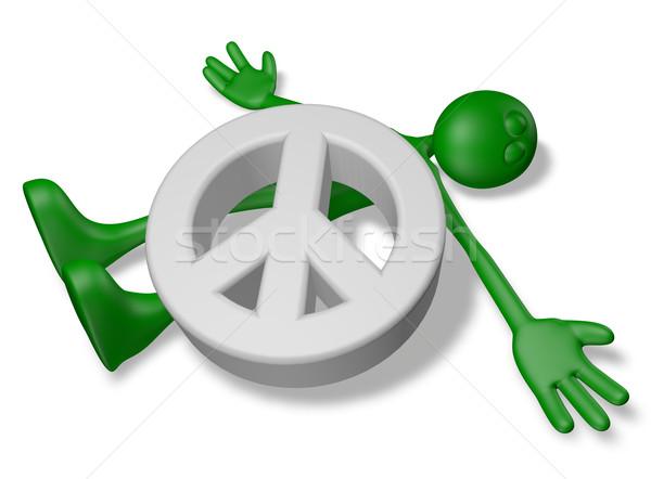Morti pace cartoon ragazzo simbolo illustrazione 3d Foto d'archivio © drizzd
