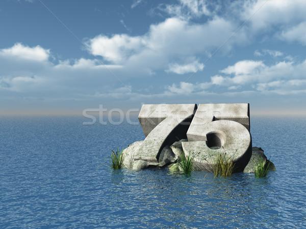 seventy five Stock photo © drizzd