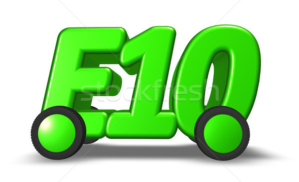 e10 on wheels - 3d illustration Stock photo © drizzd