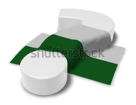 female symbol and flag of saxony - 3d rendering Stock photo © drizzd