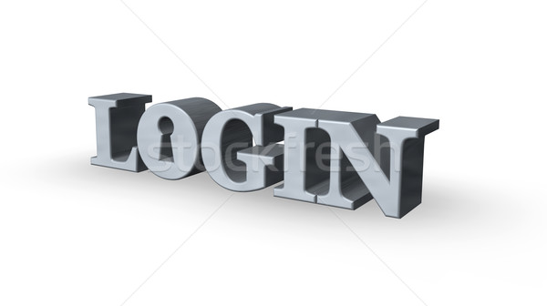 Login palavra buraco de fechadura branco ilustração 3d servidor Foto stock © drizzd
