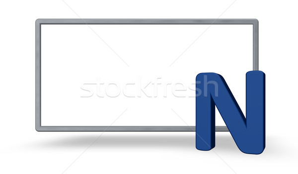 blank sign and letter n Stock photo © drizzd