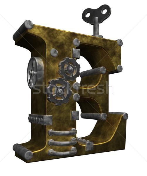 Steampunk beyaz 3d illustration dizayn teknoloji Stok fotoğraf © drizzd
