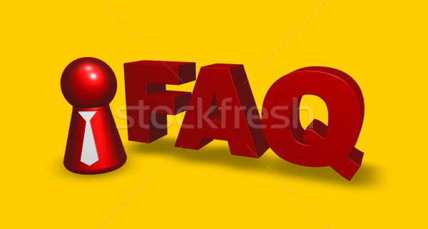 Faq tag simple personnage cravate mot Photo stock © drizzd