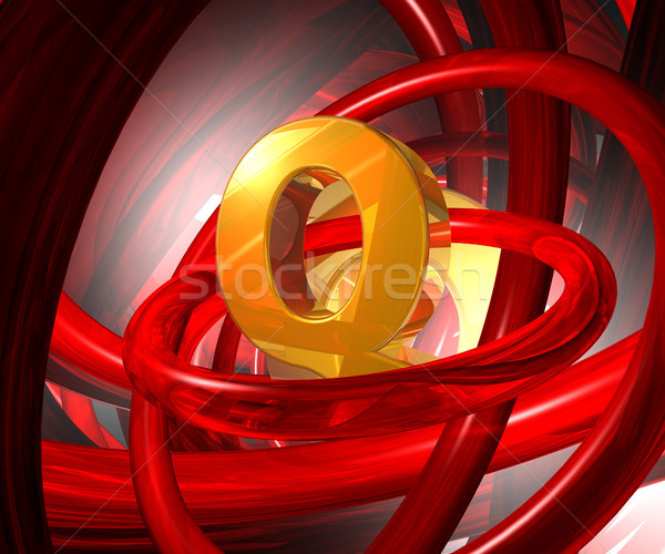 letter q in abstract space Stock photo © drizzd