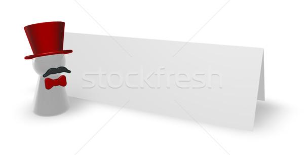 Kártya piros íj 3d illusztráció buli felirat Stock fotó © drizzd