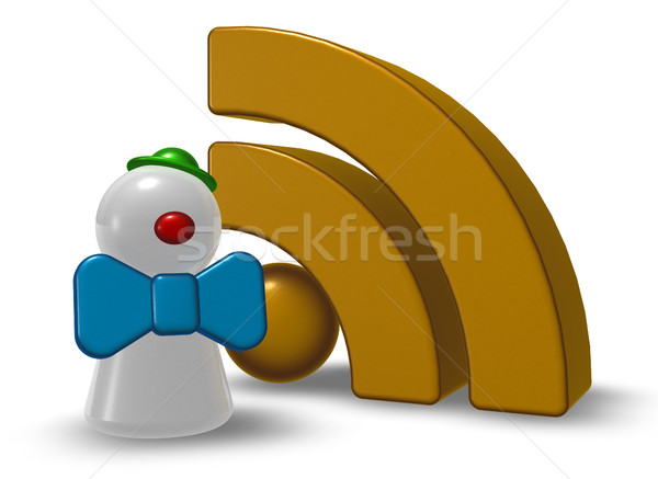 Clown pedone rss simbolo 3D Foto d'archivio © drizzd