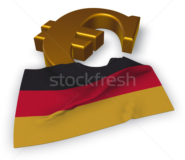 Euro Symbol And German Flag 3d Illustration Stock Photo Jrg