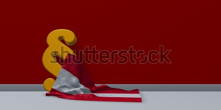 paragraph symbol and austrian flag - 3d rendering Stock photo © drizzd